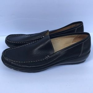 Coach black leather loafers size 9.5
